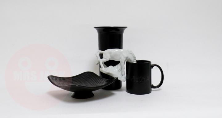 black white installation