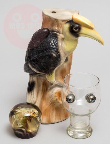 STILL-LIFE: EYES AND BIRD