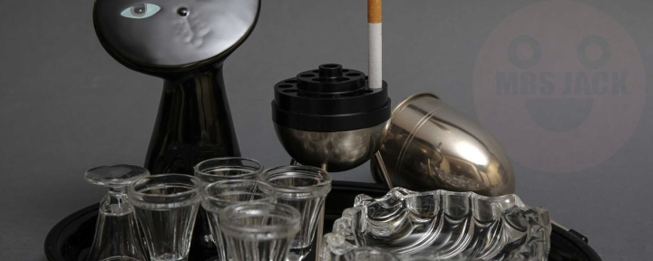 ART-DECO SMOKES TRAY