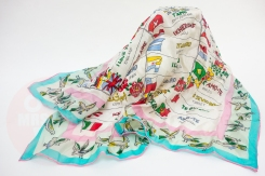 vintage silk scarf 'i love you' in 33 languages