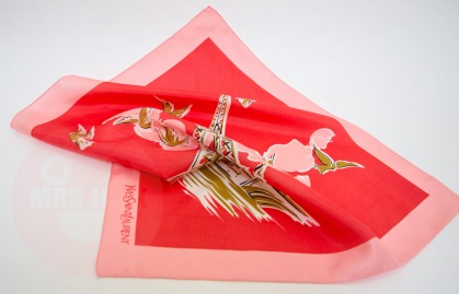 Paris Yves Saint Laurent silk scarf