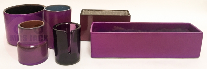 PURPLE PLANTER POTS
