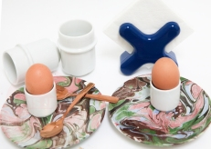 MARBLED BREAKFAST SET