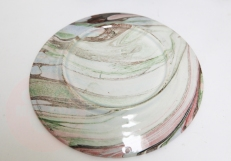 marbled ceramic plate