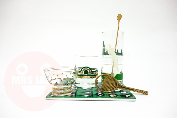 TENNIS BARWARE TRAY